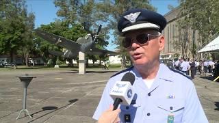 Download Cerimônia em homenagem aos pilotos mortos na Segunda Guerra marca Dia da Aviação de Caça Video