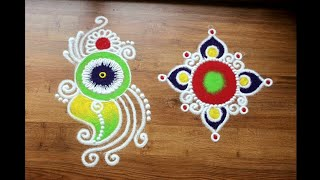 Download Simple and Easy Daily Rangoli Designs with Colours Video
