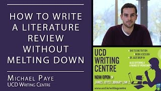 Download How to Write a Literature Review (UCD Writing Centre) Video
