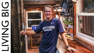 Download College Student Builds Outstanding DIY $15,000 Tiny House For Debt Free Living Video