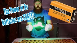 Download Shocking Things With 300 9 Volt Batteries! Video