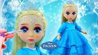 Download FROZEN ELSA NEW MAKE UP 💄 Custom ELSA PRINCESS Doll | Kids Makeup & Dress Up Video