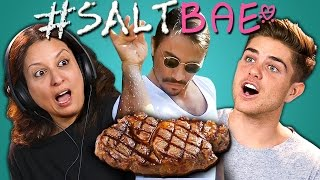Download ADULTS REACT TO #SALTBAE MEME COMPILATION (Oddly Satisfying Salt Bae Videos) Video