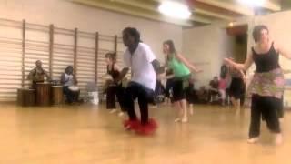 Download Stage Danse Trad ″ZAOULI″ de Côte d'Ivoire avec Oumar Ouattara à DONKE 2015 Nancy Video