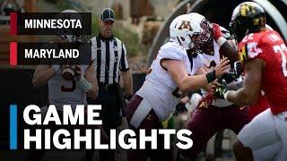 Download Highlights: Minnesota Golden Gophers vs. Maryland Terrapins | Big Ten Football Video