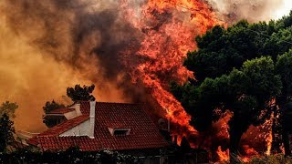 Download Dramatic footage reveals devastation of Greece's wildfire Video