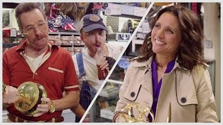 Download Barely Legal Pawn, feat. Bryan Cranston, Aaron Paul and Julia Louis-Dreyfus Video