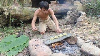 Download Primitive Technology: Sweet potato cake ( Natural food ) Video