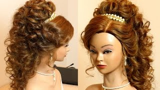 Download Curly bridal hairstyle for long hair tutorial. Video