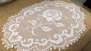 Dantel Sehpa Ortuleri Oval Modeller Crochet Free Download