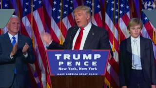 Download Donald Trump's victory speech in full – video Video