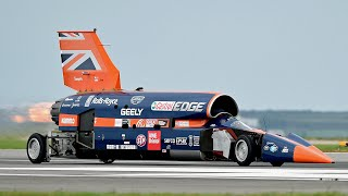Download Bloodhound supersonic car has first public test drive Video
