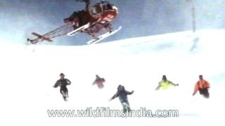 Download Heli-skiing: An adventure sport in India Video