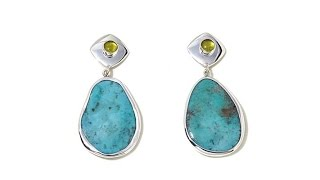 Download Jay King Turquoise and Peridot Drop Earrings Video