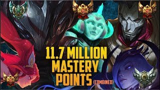 Download 11,700,000 MASTERY POINTS COMBINED- Spectate Highest Mastery NA JHIN, SORAKA, TALON, ELISE & JINX Video