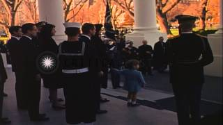 Download Funeral procession of John Kennedy leaving White House to reach Capitol. HD Stock Footage Video
