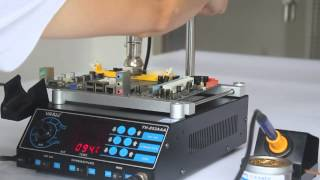Download YIHUA YH-853AAA Hot Air Rework Soldering Station & Preheating Station - Desoldering & chip removal Video