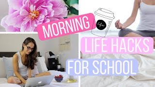 Download MORNING LIFE HACKS FOR SCHOOL | How To Be A Morning Person! Video