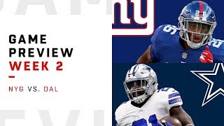 Download New York Giants vs. Dallas Cowboys | Week 2 Game Preview | Move the Sticks Video