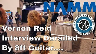 Download NAMM 2018: Vernon Reid Interview Derailed by Unexpected Guest With 8ft Guitar... Video