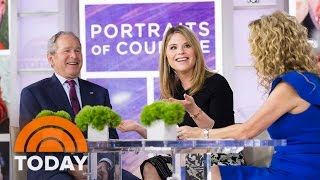 Download George W. Bush Tells KLG, Jenna About Top White House Moments, Choking On A Pretzel | TODAY Video
