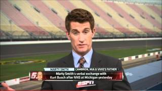 Download Kurt Busch Marty Smith Confrontation at Michigan Video