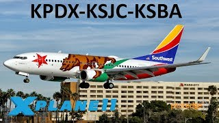 Download X-Plane 11   22K Sub Celebration!!   B757 B737   PilotEdge   Portland, San Jose & Santa Barbara!! Video