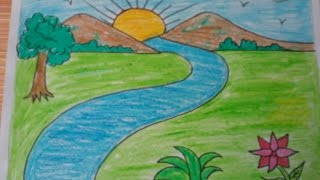 Download How to draw a landscape, kids drawing,mountains,drawing with basic shapes Video