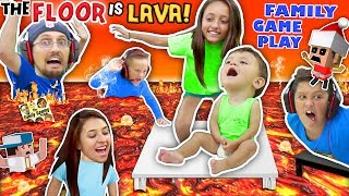 Download FLOOR IS ACTUALLY LAVA CUZ WE AIN'T LAZY YOUTUBERS! Oh, BURN! FGTEEV Family Game Challenge Pool Day Video