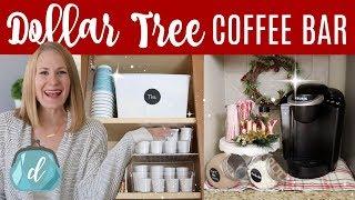 Download DOLLAR TREE KITCHEN ORGANIZATION ☕️🎄 Coffee Station & Hot Cocoa Bar Christmas DIY Video