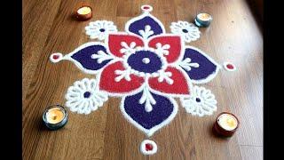 Download Simple free hand flower rangoli designs with colours/rangoli designs by Shital Daga Video