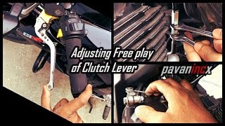 Download How to Adjust free play of clutch lever Suzuki Gixxer 155 Video
