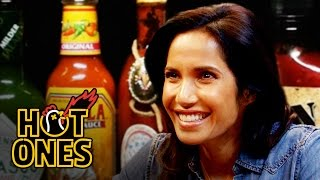 Download Padma Lakshmi Gracefully Destroys Spicy Wings | Hot Ones Video