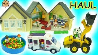 Download Tuesday Morning Big Playmobil Toy Haul - Babies In Ball Pit, Cars, Doll House + More Video