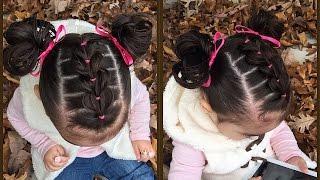 Download Trenza Pull Through con ligas y coletitas para niñas | Peinados faciles y bonitos | LPH Video