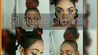 Download SPACE BUNS AND TOP KNOTS WITH CLIP INS FOR SHAVED SIDES Video