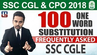 Download 100 One Word Substitution   English   SSC CGL   CPO 2018   5:00 pm Video