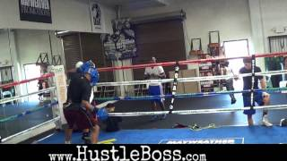 Download Shawn Porter (21-0-1, 14 KO's) sparring LaDarius Miller inside the Mayweather Boxing Club Video