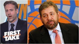 Download Knicks owner James Dolan is a 'rotten fish head' villain - Max Kellerman l First Take Video