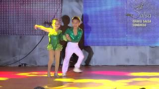 Download Israeli Salsa Congress 2014 Kevin & Beverly World champions aged 6 & 7 Video