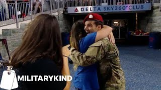 Download Watch the cutest reactions to military dads coming home | Militarykind Video