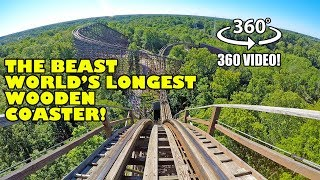 Download VR 360 The Beast World's Longest Wooden Roller Coaster POV Kings Island Ohio Video