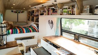 Download TINY LIVING in our VAN with TONS of STORAGE!!! | VAN LIFE Video