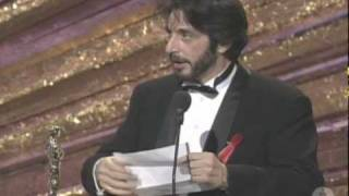 Download Al Pacino Wins Best Actor: 1993 Oscars Video