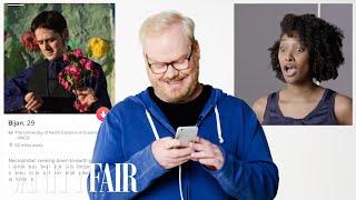 Download Jim Gaffigan Hijacks a Stranger's Tinder | Vanity Fair Video