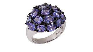 Download Rarities 5.01ctw Tanzanite Cluster Sterling Silver Ring Video