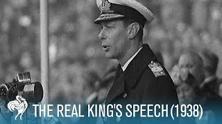 Download The Real King's Speech: King George VI's Stutter (1938) | British Pathé Video