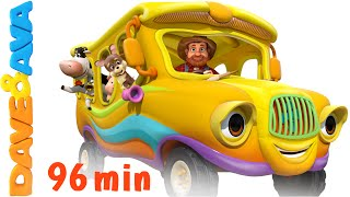 Download The Wheels on the Bus - Animal Sounds Song | Nursery Rhymes Compilation from Dave and Ava Video