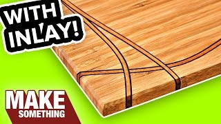 Download DIY Cutting Board with Inlay | Easy Woodworking Project Video