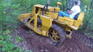 Download Caterpillar D2 #5U-4399 Cutting a Trail Through the Woods Video